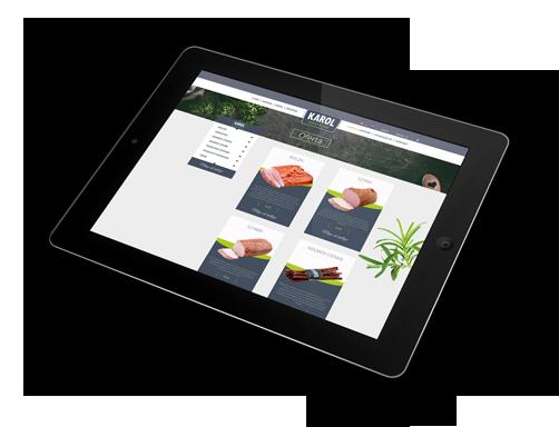 tablet z ofertą